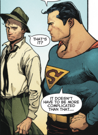 Superman and Butch. Property of DC Comics.