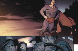 Superman vs Butch's cronies. Property of DC Comics.