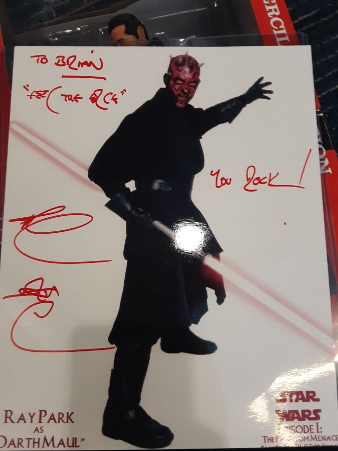 Ray Park's Autograph